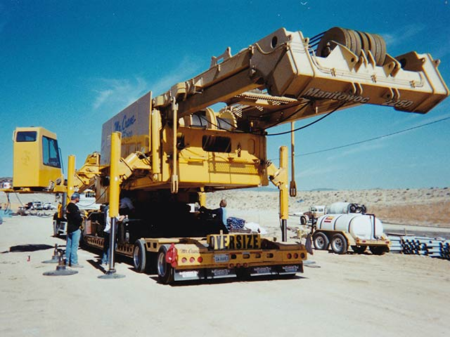 large and heavy equipment transport
